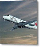 Air Canada Express Bombardier Crj-200er Metal Print