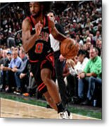 Chicago Bulls V Milwaukee Bucks Metal Print