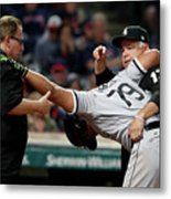 Chicago White Sox V Cleveland Indians Metal Print