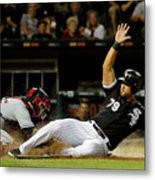 Cleveland Indians V Chicago White Sox Metal Print