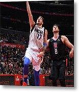 Dallas Mavericks V La Clippers Metal Print