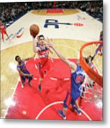 Detroit Pistons V Washington Wizards Metal Print
