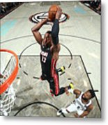Miami Heat V Brooklyn Nets Metal Print