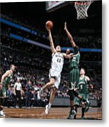 Milwaukee Bucks V Brooklyn Nets Metal Print