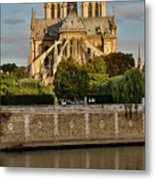 Morning Light On Cathedral Notre Dame Metal Print