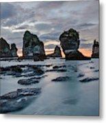 Motukiekie Beach - New Zealand Metal Print