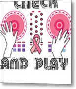 Naughty Breast Cancer Awareness Art For Women Light Metal Print
