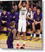 New Orleans Pelicans V Los Angeles Metal Print