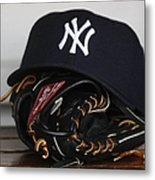 New York Yankees V Florida Marlins Metal Print