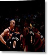 Portland Trail Blazers V Denver Nuggets Metal Print