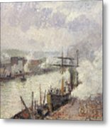 Steamboats In The Port Of Rouen  Metal Print