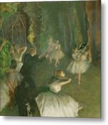 The Rehearsal Of The Ballet Onstage  Metal Print