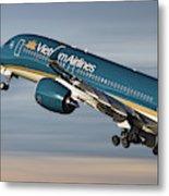Vietnam Airlines Airbus A350 Metal Print