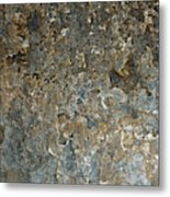 Weathered Stone Wall Metal Print