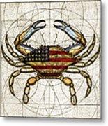 4th Of July Crab Metal Print
