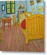 Bedroom In Arles Metal Print