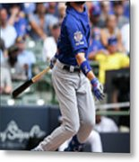 Chicago Cubs V Milwaukee Brewers 5 Metal Print