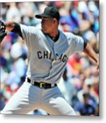 Chicago White Sox V Chicago Cubs Metal Print