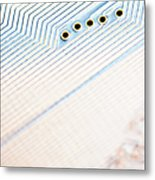 Close-up Of A Circuit Board Metal Print