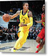 Indiana Pacers V Atlanta Hawks Metal Print