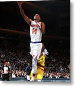 Indiana Pacers V New York Knicks Metal Print