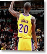 Los Angeles Lakers V Chicago Bulls Metal Print