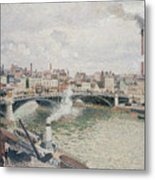 Morning  An Overcast Day  Rouen  Metal Print