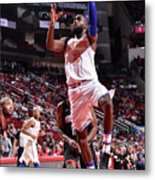 New York Knicks V Houston Rockets Metal Print