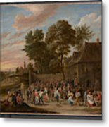 Peasants Dancing And Feasting  Metal Print