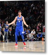 Philadelphia 76ers V New York Knicks Metal Print
