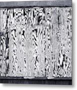 Stained Wood Siding Metal Print