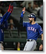 Texas Rangers V Seattle Mariners Metal Print