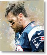 Tom Brady.new England Patriots. Metal Print