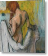 Woman With A Towel  Metal Print