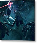 501 Vs Aliens 3 Metal Print