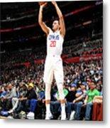 Boston Celtics V La Clippers Metal Print
