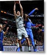 Dallas Mavericks V San Antonio Spurs Metal Print