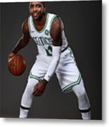 Kyrie Irving Boston Celtics Portraits Metal Print