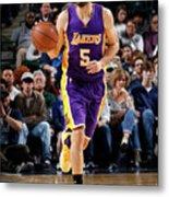 Los Angeles Lakers V Dallas Mavericks Metal Print