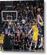 Los Angeles Lakers V Sacramento Kings Metal Print