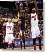 Miami Heat V Los Angeles Lakers Metal Print