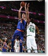 New York Knicks V Boston Celtics Metal Print