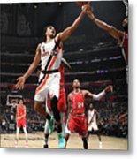 Portland Trail Blazers V La Clippers Metal Print