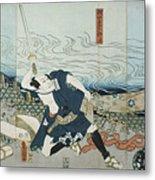 Theatre Scene, 1844. Artist Utagawa Metal Print