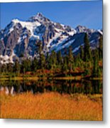 Autumn Colors With Mount Shuksan Metal Print