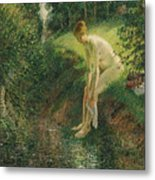 Bather In The Woods  Metal Print