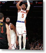 Cleveland Cavaliers V New York Knicks Metal Print