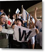 Cleveland Indians Fans Gather To The Metal Print