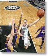 Los Angeles Lakers V Brooklyn Nets Metal Print