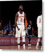 Minnesota Timberwolves V New York Knicks Metal Print
